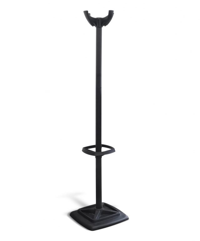 Hat and coat stand in black