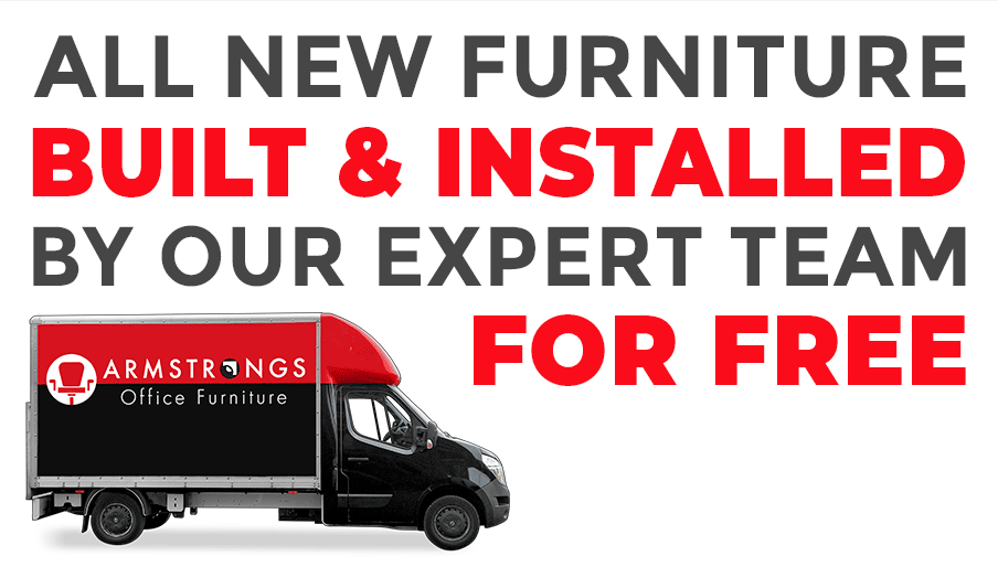 All new furniture built and installed by our expert team, for free